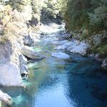 """Die """"Blue Pools"""" auf dem Haast-Pass"""