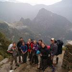 """Nach einer Stunde """"Sprint"""" erlebten wir als 1. Gruppe das erhebende Gefühl Machu Pichu zu sehen."""
