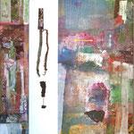 Amici, 140x180 cm, Collage auf Leinwand, 2012, Preis 1800,-