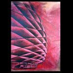 *Allianzarena* 140/160, Acryl auf Blattkupfer auf Leinwand