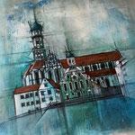 *St. Ulrich Augsburg* 50/50 cm, Acryl auf Leinwand