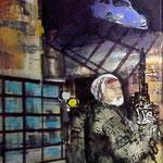 Invasion 1, Acryl und Spachtelmasse auf Leinwand, 50x40 cm