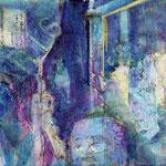 Momentum 2, Mischtechnik auf Leinwand, 20 x 100 cm