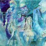 Momentum 4, Mischtechnik auf Leinwand, 20 x 100 cm