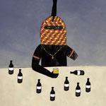 「酒と覆面」Photoshop