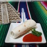 Mini-Burrito mit Hächnchen gefüllt