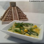 Rajas con Crema - Paprika mit Mais in Sahne-Käsesauce