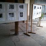 豊村酒造の歴史を、貴重な写真を展示し解説しました。