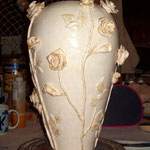 """ваза напольная ручная работа """"Роза чайная"""""""
