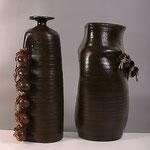 """ваза напольная керамика """" С  кувшинчиками"""""""