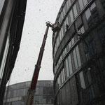 Glasreinigung bei Schnee
