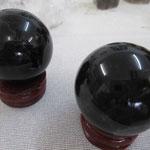 ★黒水晶丸玉36cm