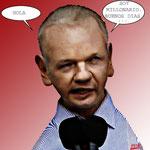Julian Assange.- caricatura.- cartoonja.com FEDE