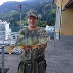 Welch Erfolg - Jan Molderings fängt ein 47cm/1.89kg Egli - BRAVO!