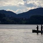 Fliegenfischen vor Traumkulisse Foto: ©Lukas Bammatter