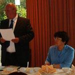 Begrüßung durch den Präsidenten der Bambusrunde, Dr. Gerd Boesken