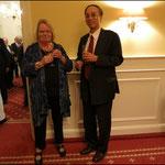 Ursula Seemann und Hsin-Tao Tsao, 1. Sekretär der Taipeh Vertretung Büro Hamburg