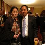 Bambusrunde-Vorstand Kai Shen mit Partnerin
