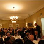 Bambusrunde-Präsident Dr. Gerd Boesken begrüßt die Gäste