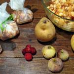 Bourses de salade de fruits d'automne