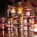 Diverses productions maison avec les produits du jardin