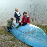 Am Santa Clara See - endlich mal wieder ein Kind im gleichen Alter