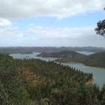 Ein gutes hatte die Schieberei ja: ein herrlicher Ausblick auf den Santa Clara See