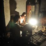 Handwerker bei Nacht
