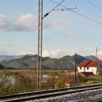 Auf dem Weg zum Grenzübergang nach Albanien