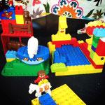 Lego: Schwimmbad und Bauernhof