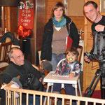 Theo und das NDR Team: Catherine, Wolfgang und Kai