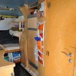 Kühlschrank, Apothekerschrank, Badezimmertür