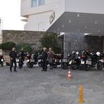 Die Motorradfahrer...
