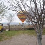 Jeden Morgen starteten hier die Heißluftballons