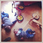 Laufrad Break Down im Wohnzimmer
