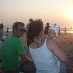 In Arambol zum Sonnenuntergang...