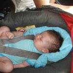 Theo schläft brav