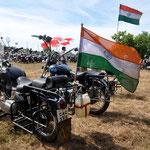 Die weiteste Strecke hat ein Biker aus Agra hinter sich gebracht, fast 2000 km entfernt.