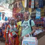 Shopping auf dem Anjuna Fleemarket