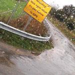 Ein großes Schild weist darauf hin, dass unser GPS keine Ahnung hat...