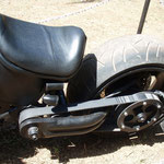 Wie bei einer Harley-Davidson mir Riemenantrieb. Besser beim fahren keinen Sari tragen.