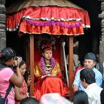 Eine lebende Göttin: die königliche Kumari.
