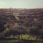 Sagres Campingplatz - Blick vom Bungalow