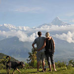 Sarangkot - herrliche Aussicht auf die Annapurna-Gebirgskette