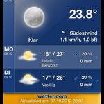 Das Wetter...