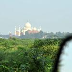 Das berühmte Taj Mahal.