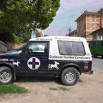 Das Rettungsfahrzeug