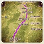 Die letzte Etappe nach Freiburg