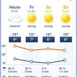 Wetter - muss halt auch jeden Tag geäugelt werden. Mehrfach!