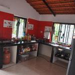 ...einer großen Küche...